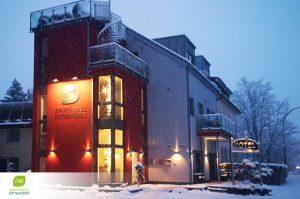 dieses Foto zeigt das Aparthotel Kottenforst im Winter