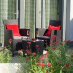 dieses Foto zeigt die Terrasse von Apartment 17