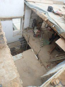 dieses Foto zeigt die Umbauphase des Hotel Kottenforst