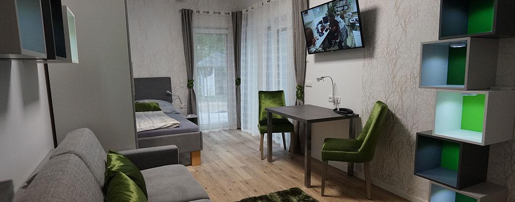 dieses Foto zeigt das Zimmer 1 im Aparthotel Kottenforst